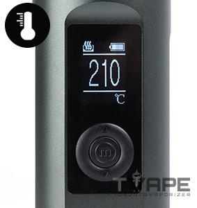 Arizer Solo 2 Temperature Flexibility