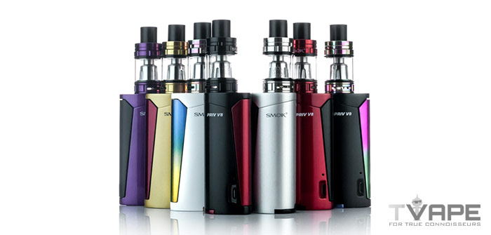 Smok Priv V8 Vape Kit With Different Colors
