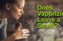 Woman smelling vapor