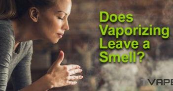 Woman smelling vapor