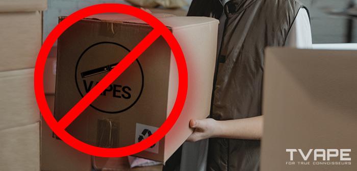 Man carrying vape box with no symbol